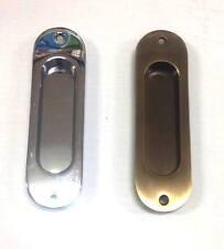 Nicchia ovale per porta scorrevole - senza foro chiave - cromo lucido o bronzato