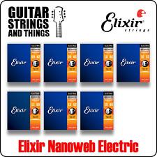 Elixir Nanoweb Coated Nickel Plated Steel Electric Guitar Strings