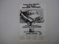 advertising Pubblicità 1981 LEYLAND MINI MOKE CALIFORNIAN