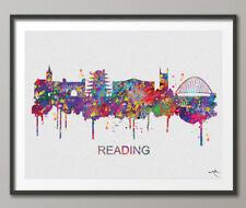 Reading Skyline,  Wedding Gift, Reading City, United Kingdom, Watercolor Print