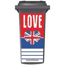 Love Grande-Bretagne wheelie bin autocollant panneau
