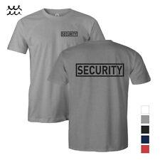 MENS SECURITY T SHIRT GUARD SHIRTS LAW ENFORCEMENT SAFETY WORK UNIFORM S - 5X