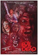 EVIL DEAD (1981) Movie POSTER Rare Horror Gore