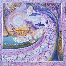 Wendy Andrew Pagan Greetings Card Yule Christmas Winter solstice purple owl