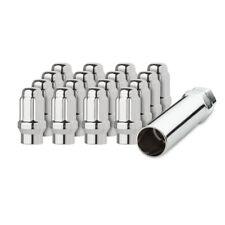 16 Chrome 1/2-20 Closed End ET Spline Tuner Lug Nuts for Aftermarket Wheels