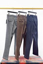 Vintage Mens Herringbone Wool Tweed Trousers Straight Silm Fit Dress Suit Pants