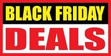 "Black Friday Deals - Vinyl Banner Sign - 24"", 36"", 48"", 60"""