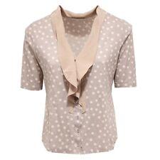 1440X maglia camicia donna FABIANA FILIPPI beige shirt woman