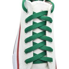 "Flat Shoelace 8 mm ""Kelly Green"" Athletic Sneakers 27"",36"",45"",54"",63"""