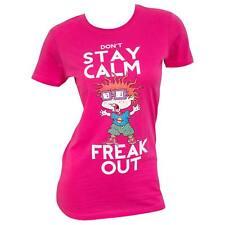 Rugrats Chuckie Freak Out Women's Tee Shirt Pink