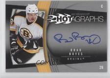 2006-07 Fleer Hot Prospects Hotagraphs #H-BR Brad Boyes Boston Bruins Auto Card