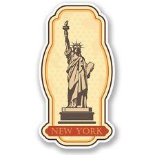 2 x New York Rustic Vinyl Sticker Laptop Travel Luggage #4206