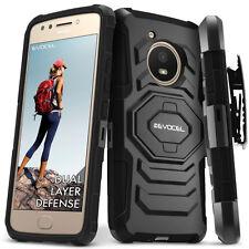 Motorola Moto E4 Case, Evocel Rugged Holster Dual Layer Case w/ Kickstand & Clip