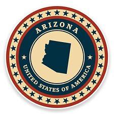 2 x 10cm Arizona USA Vinyl Sticker Laptop Car Travel Luggage Tag Flag Map #9363