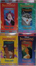 Complete Set of 4 Burger King Disney Pocahontas Meeko Powhatan Movie Glasses MIB