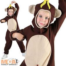 Monkey Fancy Dress Kids Jungle Animal Book Week Day Character Boys Girls Costume