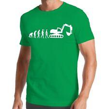 Evolution Bagger T-Shirt | Digger | Baustelle | Erde | Kran | Baumaschine