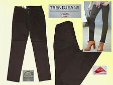 Vaqueros señora stretchjeans Jeans Hose pantalones señora vaqueros tendencia pu revestimiento 40-42 br