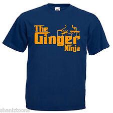 Ginger Ninja Adults Mens T Shirt 12 Colours Size S - 3XL