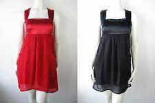 Diesel Kleed Kleid Dress Jurk Canraf Vestito Vintage Rot Schwarz Seide Neu
