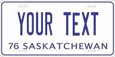 Saskatchewan Canada Custom Auto Car OR Motorcycle Personalized License Plates