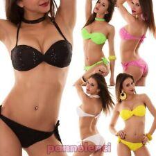 Bikini femme maillot de bain bande-écharpe croisé SANGALLO deux pièces KL2012