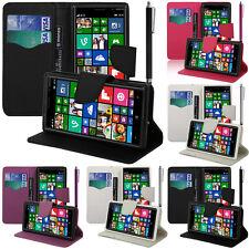 Etui Support Video Cuir PU Effet Tissu Nokia Lumia 830 RM-984