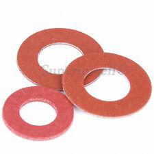 Red Insulating Fiber Flat Washers Sealing Gasket M2 M2.5 M3 M4 M5 M6 M8
