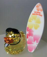 SWAROVSKI SILVER CRYSTAL DUCK-SUNNY STEVE SURFER mint in box  1096743