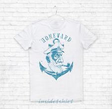 MAGLIETTA HOMEWARD maglia tattoo ancora sailor captain sea anchor T-SHIRT MAN