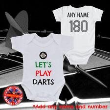 Allons jouer aux fléchettes, Fléchettes Baby Grow gilet, t-shirt personnalisé, Cadeau, Enfants, Papa