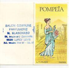 CHROMO SALON DE COIFFURE PARFUMERIE BLANCHARD POMPEIA CALENDRIER 1975