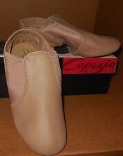 NEW/BOX CAPEZIO LEATHER Caramel SPLITSOLE JAZZ Boots EJ2 Child/adlt sizes slipon