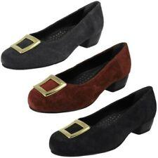 Mujer DA Bella Pequeño De Tacón Ante Zapatos salón con detalle hebilla Kate