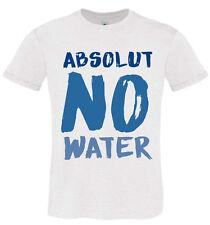 T-SHIRT UOMO HAPPINESS TSHIRT DIVERTENTE ABSOLUT NO WATER