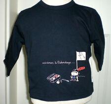 Miniman Sweatshirt Pullover Pirat Gr. 68 74 oder 86 in Dunkelblau mit Stickerei