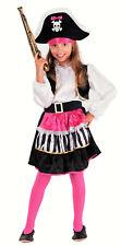 Lady Piratin - Piraten Kostüm Kinder Mädchen pink-schwarz-weiß (98783)