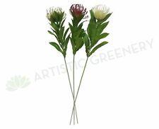 NEW Artificial Flowers/Plants F0067 Protea Pincushion Single Stem 80cm 4 Colours