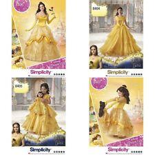 Disney Princess Costume Belle Beauty and the Beast Simplicity Pattern New U Pick