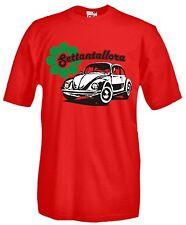 T-shirt Beetle Vintage L01 Maglia Cotone Auto Storiche Asi Flower Power