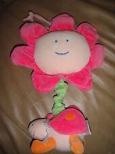 Carters Starter Musical Music Plush Pink Flower Bug Hangs Lights Up