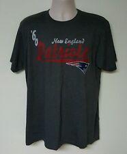 New England Patriots NFL Men's Gray Team Short Sleeve T-Shirts: L