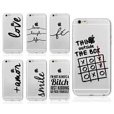 Cotizaciones palabra diciendo diseño claro TPU Gel Funda Para iPhone 8 8+ 7 7+ 6S 6+ se