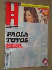 Paola Toyos #156 Revista H Para Hombres Mexican Complete Your Collection