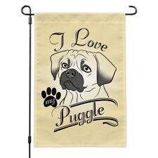 I Love My Puggle Garden Yard Flag