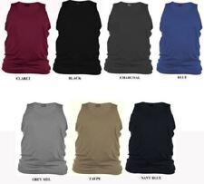 Rockford Puro Algodón Liso Camiseta en TALLA 1xl to 6xl, 9 COLORES