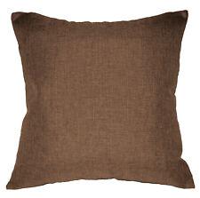 Qh20a Light Brown Linen Cotton Blend Style Cushion Cover/Pillow Case Custom Size