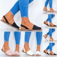 Gr.35-44 Damen Peep Toe Sandalen Slingbacks Slipper Outdoor Freizeit Schuhe NEU