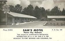 Sam's Motel Phenix City Alabama Al Postcard