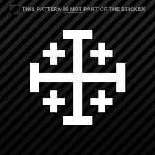 (2x) Jerusalem Cross Sticker Self Adhesive Vinyl christian religous